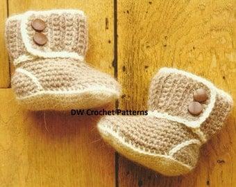 Crochet Baby Boots Crochet PDF Pattern
