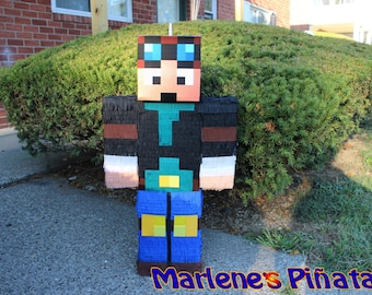 The Diamond Minecraft Pinata, Dan TDM pinata...!