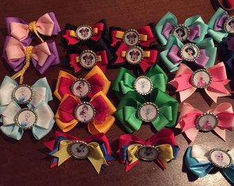 Disney hair bows, tell me who and I can make it!