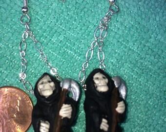 Grim Reaper Earrings