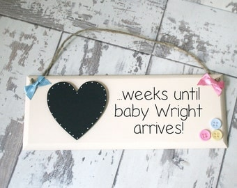 Pregnancy gift, Baby countdown, Mum and Dad To Be Gift, Pregnancy Countdown plaque, Personalised Baby Countdown Gifts, Expecting Gift