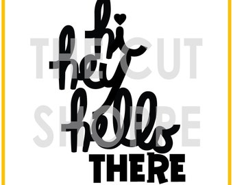 The Hello There cut file is a sentiment/title, that can be used for your scrapbooking and papercrafting projects.