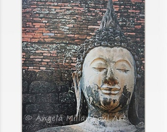 Buddha print - Fine art photography - Buddha wall art - Thai Buddha - Travel photography - Buddhist art - Zen decor - Feng shui - Thailand