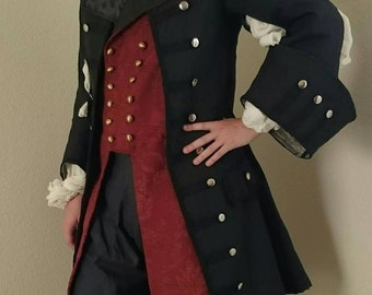 Debonair Pirate Coat - Frock Coat Custom