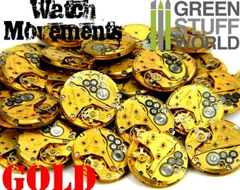 Vintage Watch GOLD MOVEMENTS 85gr. Steampunk (5 units) - sizes 2.2cm