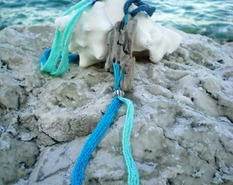Unique Bohemian Gypsy Necklace dancing with the colors of the sea... Original driftwood from Adriatic Sea. DANCE YOUR DREAM...