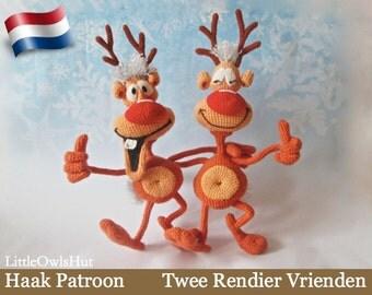 035NLY Twee Rendier Vrienden - Amigurumi Haakpatroon - PDF by Bakaeva Etsy