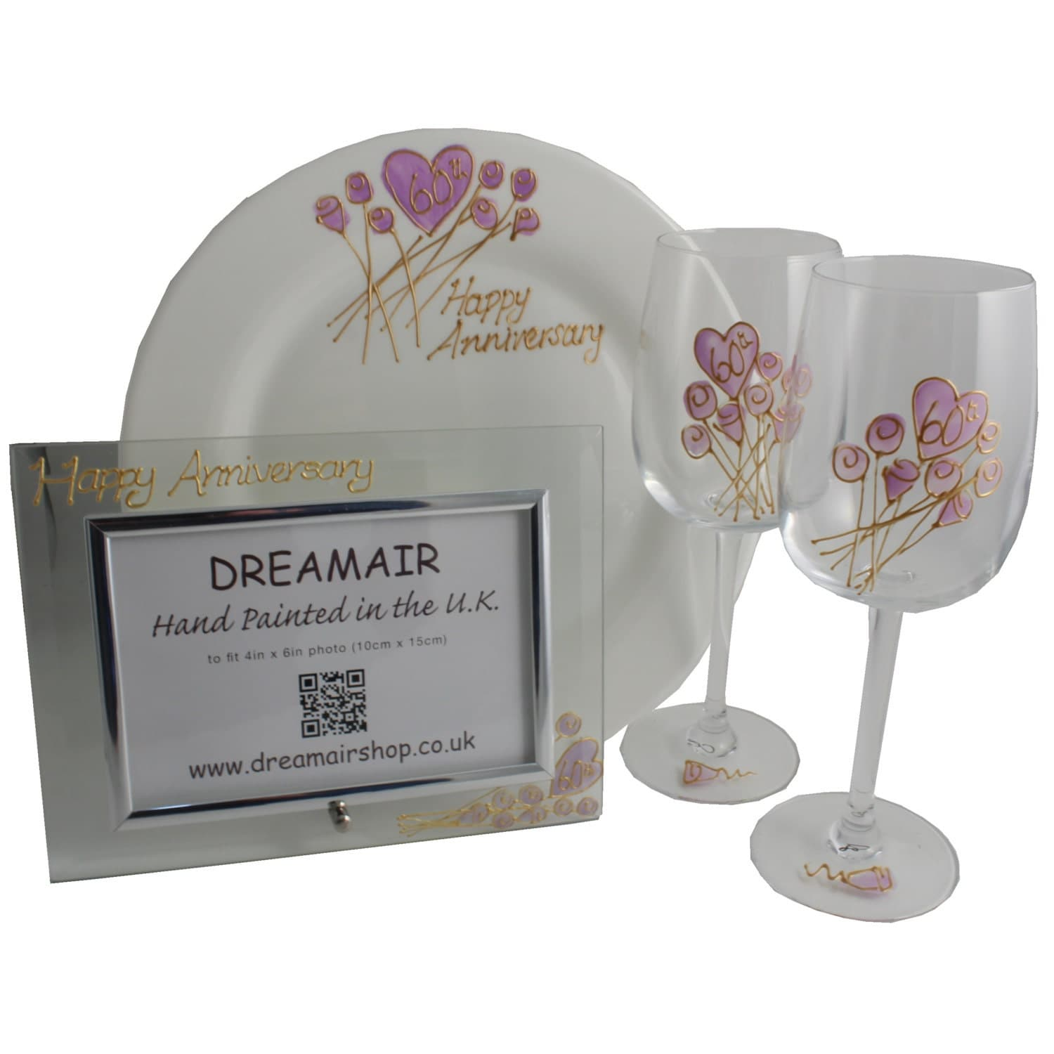 PERSONALISED 60th Diamond Wedding Anniversary Gift Sets