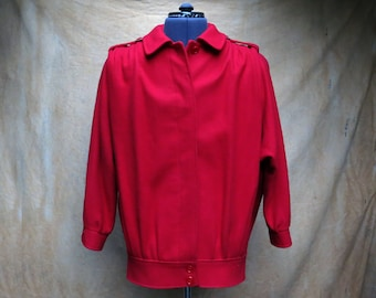 Red Wool Coat, XL