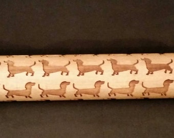Personalized Engraved Wood Rolling Pin RP-2
