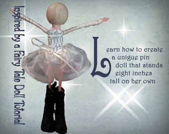 Clothespin Doll Tutorial, Pin Doll Tutorial, How to Make An Art Doll,How to Make a Miniature Doll