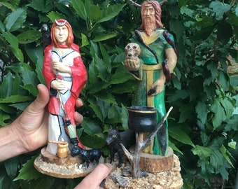 Wiccan divinity statues