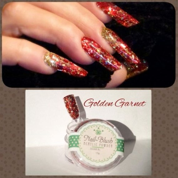 Acrylic Nail Powder Golden Garnet 15g By Nail-Blush