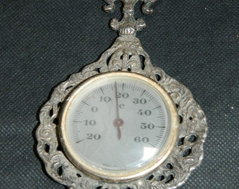 small old barometer.  little old barometer English.