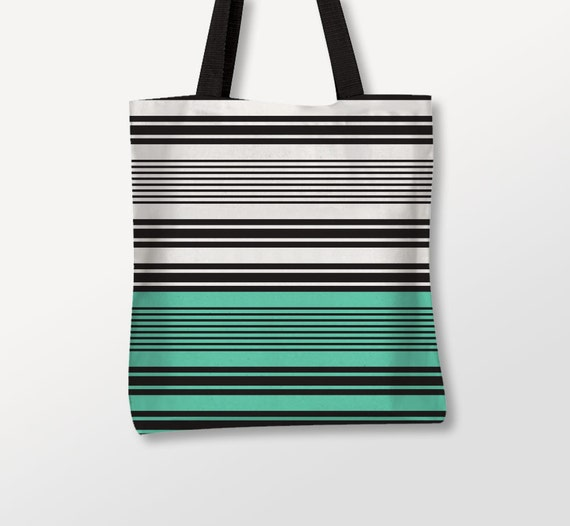 Geometric Bag, Stripped Tote, Two Colors, Shoulder Bag, Large Tote, Polyester Fabric