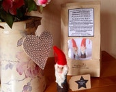 Kit to make two needle felted santa gnomes. Made from Merino & Corriedale wool tops, with full colour, easy to follow instructions.