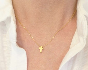 Cross Necklace + Floating Cross Necklace + Small Gold Cross Necklace + Women's Cross Necklace + Faith Necklace + Everyday Necklace