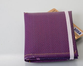 Purple Trifold Wallet repurposed  from london 2012 Olympic banner