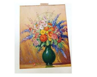SALE 25% OFF 40s Print/ Floral Print/ Vintage Print by Cleo