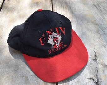 Black and Red UNLV Rebels Hat