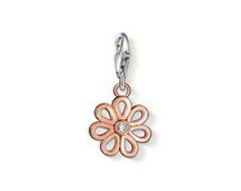 charms argent divers nature marguerite rose,Bracelet Charm,sterling silver charm,Bracelet européen,pendentif, Style Européen à breloques