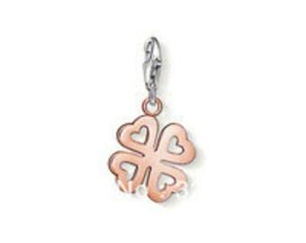 charms argent divers nature trefle coeur,Bracelet Charm,sterling silver charm,Bracelet européen,pendentif, Style Européen à breloques