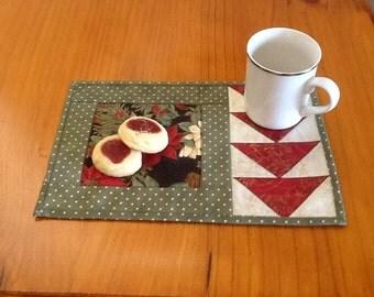 GEESE mug rug, snack mat, placemat, candle mat