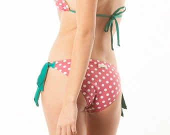 strawberry red dots bikini Conxita