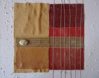 "Abstract Informal Mixed media Minimalist Art - Title"" Rain3""-Size15.76x15.76"