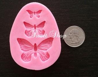 3 Pcs. Butterfly Mold