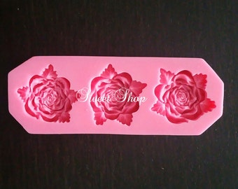 3 Pcs. Rose Mold