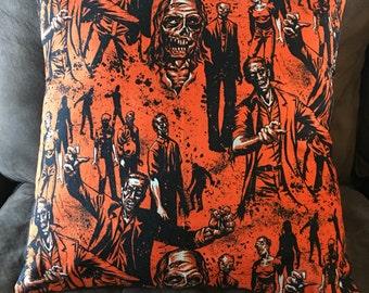 "Zombie Apocalypse Throw Pillow Cover 16""x16"""