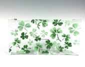 Shamrock Serving Tray, Irish Design, Celtic Design, Clovers, Green, Shamrocks, Irish Decor