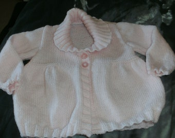 Pink shawl collared cardigan