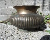 Antique Indian Lota water vessel - 18th century bronze antique water pot - Asian antique metalwork - brass decor
