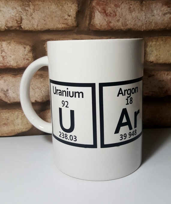 Periodic Table Geek Mug - Chemistry Humor - Valentine Gift - Periodic Table - Jumbo Coffee Mug - Geek Gift - Nerd Humor - Secret Admirer
