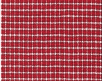Mammoth Flannel Plaid Flannel by Robert Kaufman SRKF 15598 3 Red Yard Cut and Yardage Available
