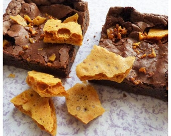 Honeycomb Brownies (Box of 4 or 9 squares)