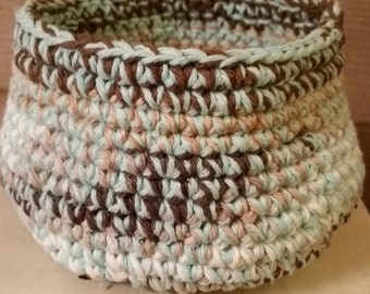 Cotton crocheted basket