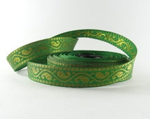 Indian trim , traditional Indian motif trim , red and golden / grean and golden small trim, Indian ribbon