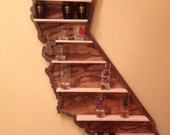 State Shot Glass Shelf