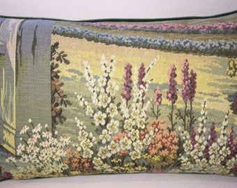 Vintage Italian Tapestry Pillow-105  Free shipping,free down feather insert.