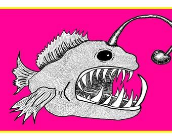 Angler Fish Print