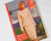 Store Closeout Pattern - New, Uncut 1991 Butterick See & Sew 5617 Size 12 14 16 B Jacket Skirt Long Sleeve Fitted
