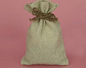 Linen Wedding Favor Bag-drawstring bag great for weddings, baby showers,corporate events, fund raisers, boutique product packaging