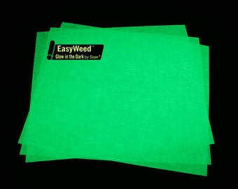 "Siser EasyWeed Glow in Dark- 15"" wide-GREAT FOR HALLOWEEN"