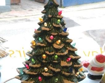 Vintage Style Snowy Ceramic Christmas Tree