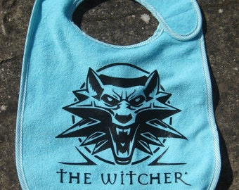the witcher video game geek baby bib