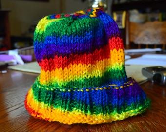 Rainbow swirl hat