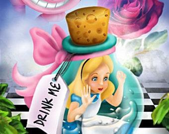 Alice in Wonderland - Drink Me Bottle Canvas Art Print
